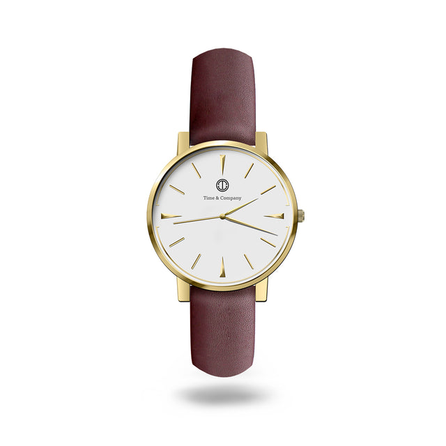 Moment & Memories Unisex White/Brown Wrist Watch - Time and Company