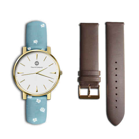Clara – BUNDLE (2 watch bands) Wrist Watch - Time and Company