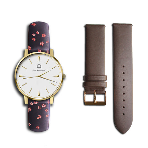 Emma – BUNDLE (2 watch bands) Wrist Watch - Time and Company
