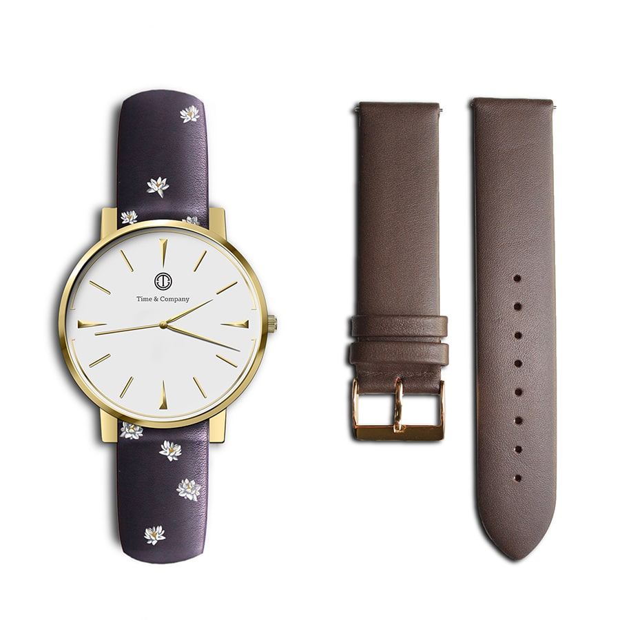 Rosa – BUNDLE (2 watch bands) Wrist Watch - Time and Company