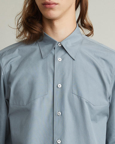yoke detail button down shirt