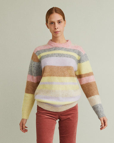 Kalbah Oversized Striped Sweater