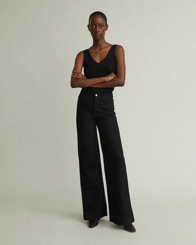 Hall High Rise Wide Leg Jeans