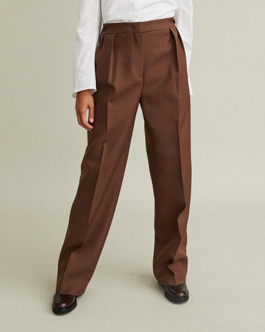 Lienn Wool Wide Leg Trousers