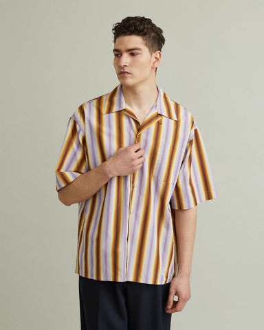 RUNWAY DEGRADE STRIPE SHIRT