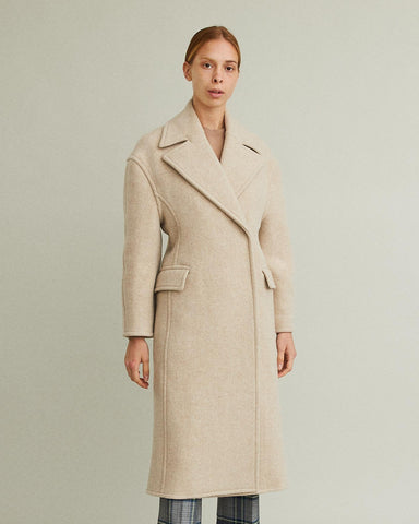 Olaia Boiled Wool Shaped Coat