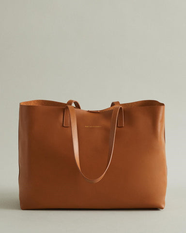 STRAUSS LEATHER TOTE