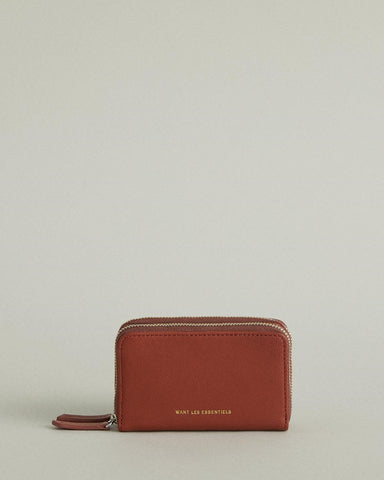 Mini Petra Leather Double Zip Cardholder