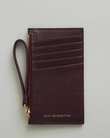 Adana Zipped Leather Cardholder