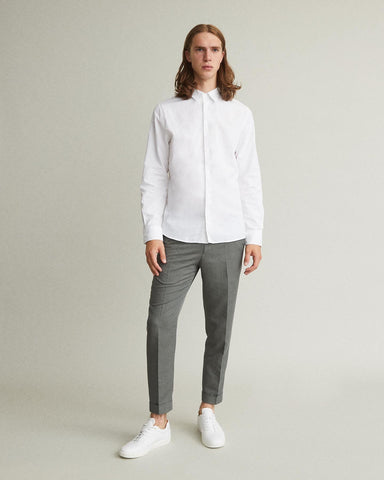 Terry Cropped Linen Blend Slacks
