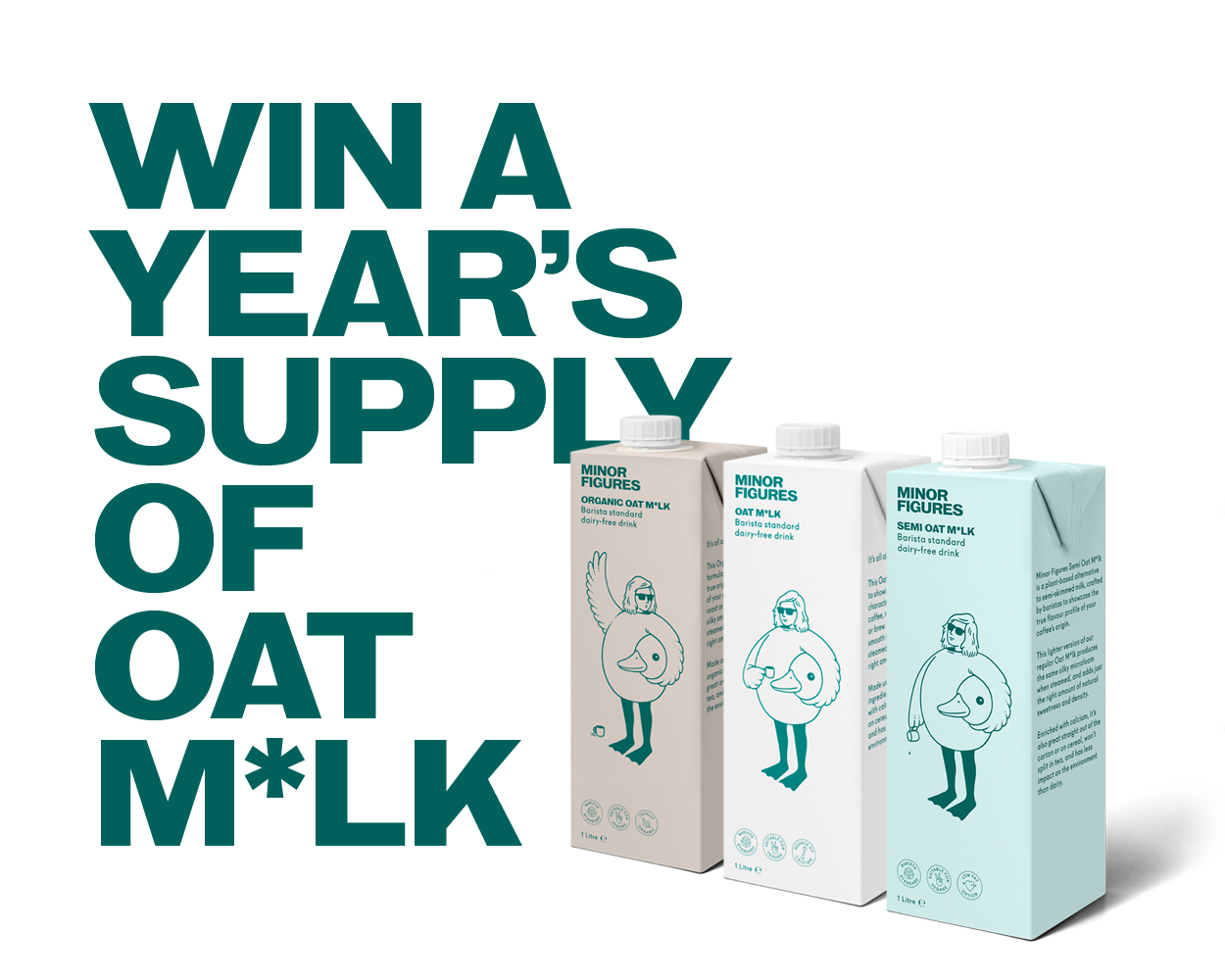 Win a Years Supply of Oat Milk