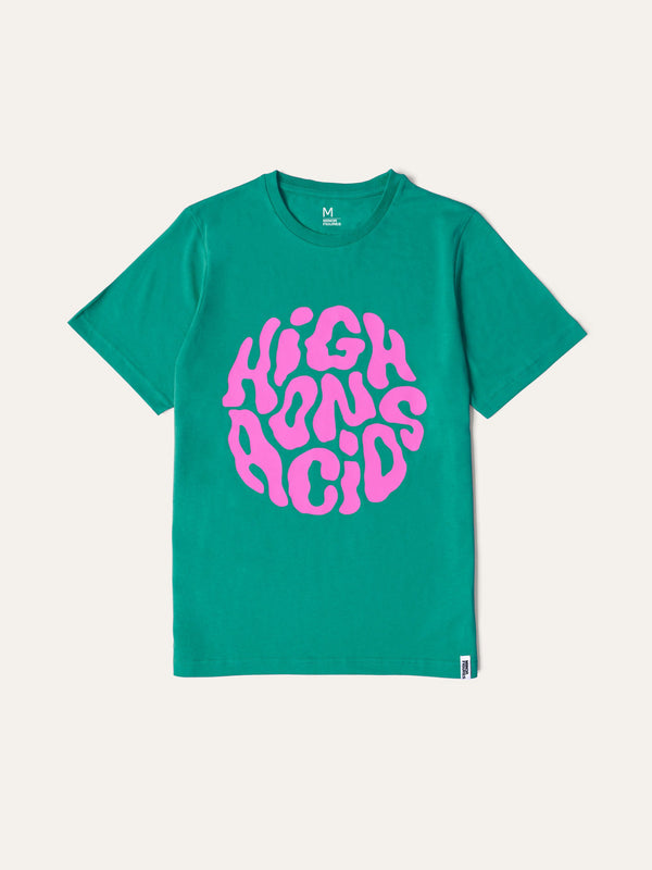 High on Acids Green T-Shirt by Minor Figures