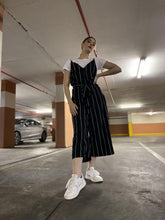 Load image into Gallery viewer, Culotte Jumpsuit - Black Stripe