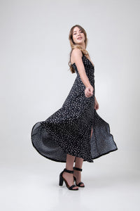 The Melissa Dress - Black Dotty - Differently