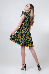 Petal Wrap Dress - Viridescent - Differently