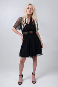 The Kira Infinity Dress - Black Mesh