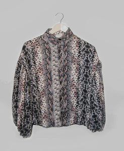 Suzy Bell Blouse- Snake Print