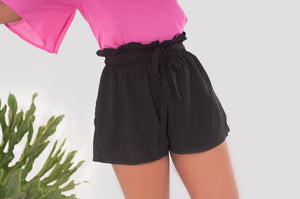 Slouchy Summer Shorts - Black