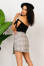 Load image into Gallery viewer, Boss Babe Mini Skirt - Plaid