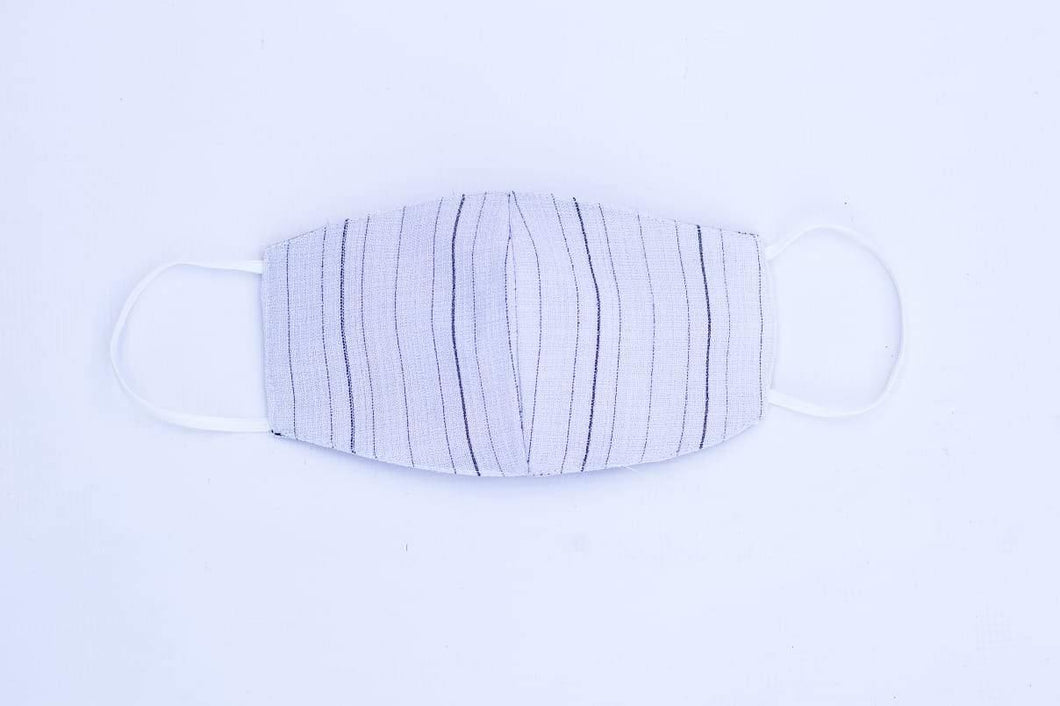 Triple layer reusable face mask - Pin Stripe