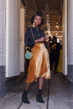 Load image into Gallery viewer, Midi Wrap Skirt - Liquid Gold