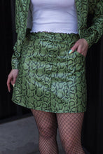 Load image into Gallery viewer, 90's Moment Skirt - Olive Snake