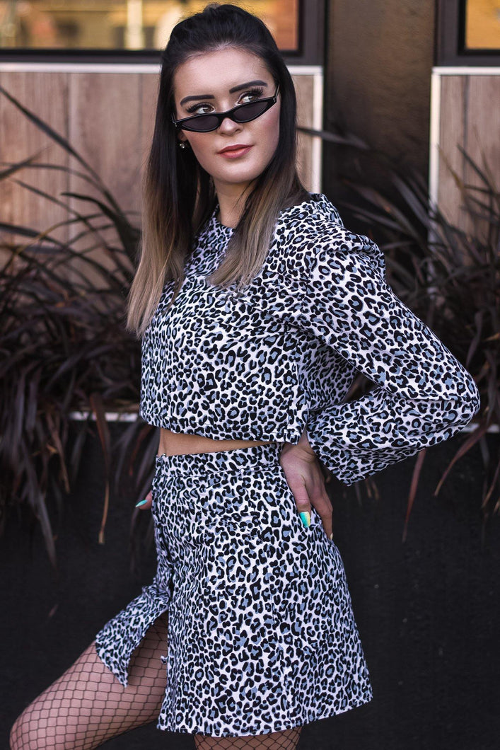 Crop Sweater -  Leopard Courderoy