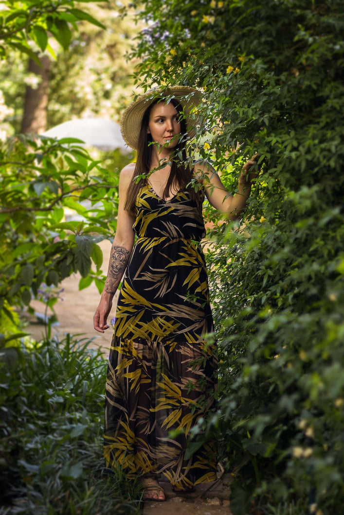 Boho Maxi Dress - Mustard Willow