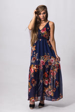 Load image into Gallery viewer, Boho Maxi Dress - Navy