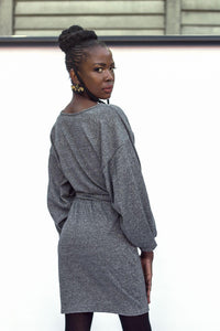 Vancouver Jersey Dress - Charcoal