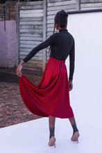 Load image into Gallery viewer, Monaco Midi Skirt - Ruby - Differently