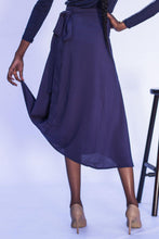 Load image into Gallery viewer, Midi Wrap Skirt - Navy