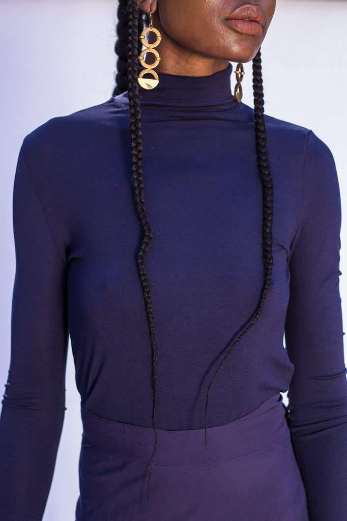Prague Polo Neck - Navy - Differently