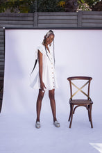 Load image into Gallery viewer, French Button Down Dress - White - Differently