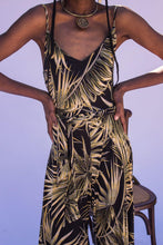Load image into Gallery viewer, 70's Moment Jumpsuit - California Palm Leaf