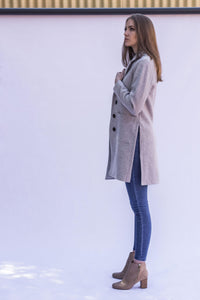 Milan Coat - Light Grey