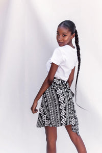 Mini Wrap Skirt - Tribal