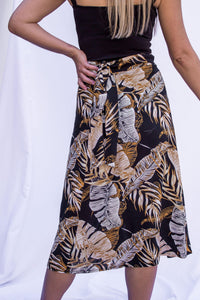 Midi Wrap Skirt - Safari