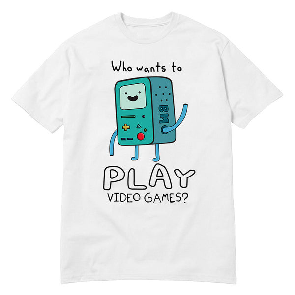 Adventure Time Play Video Games Funny t shirt