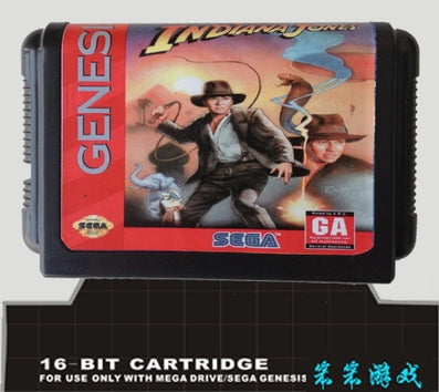 Young Indiana Jones - Instrument of Chaos - 16 bit MD Games Cartridge For MegaDrive Genesis console