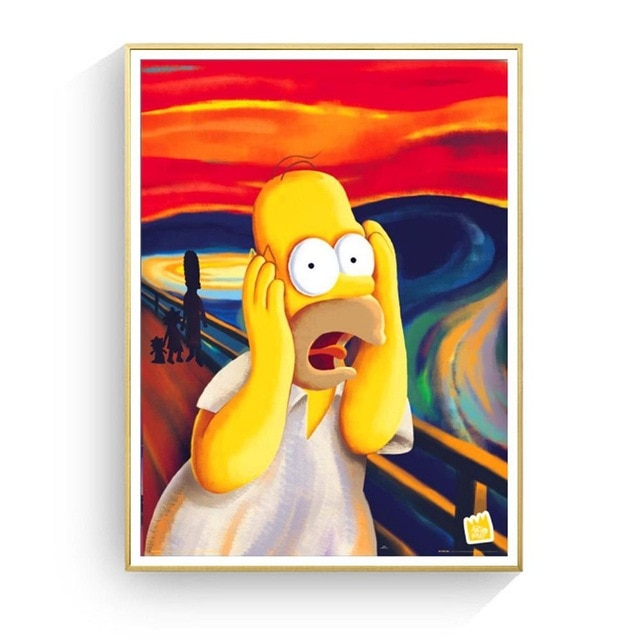 Simpson Art Print Painting Poster