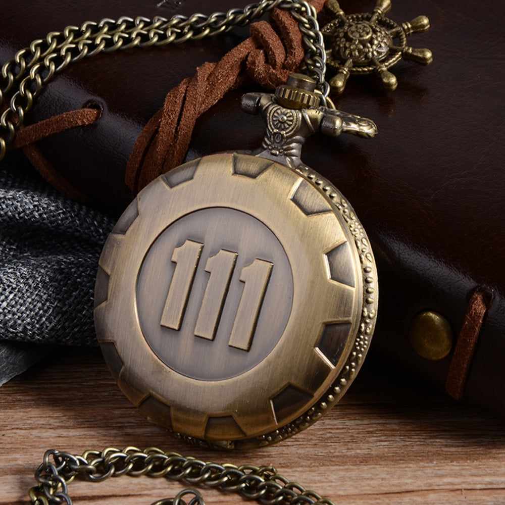 Quartz Pocket Watch Fallout Vault 111