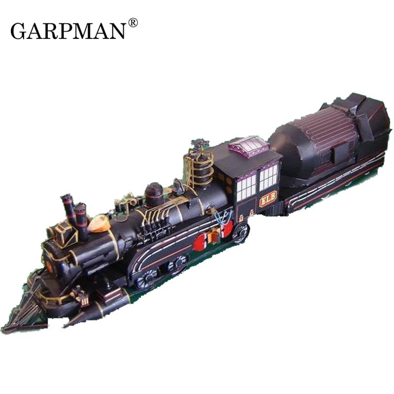 "The Doctor's Train Paper Model ""back To The Future"" Papercraft Handmade"