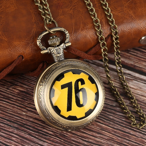 Fallout 76 Vault FALLOUT Quartz Pocket Watch Pendant