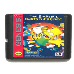 The Simpsons Bart's Nightmare III 16 bit Sega MD Game Card for Mega Drive for Genesis EU/JP Shell