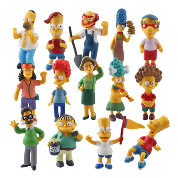 14pcs Small Simpsons figures