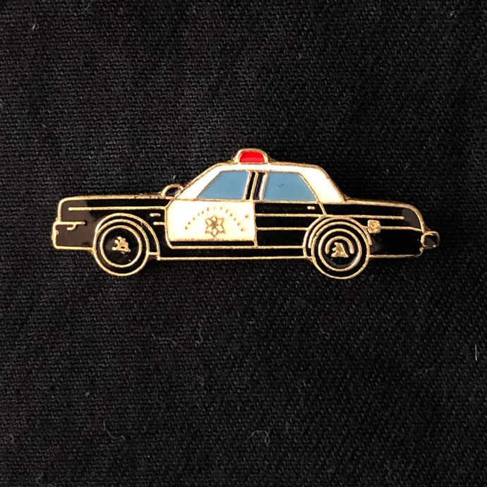 Vintage Police Car Lapel Pin