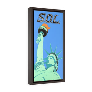 S.O.L. (Statue of Liberty) Canvas Art Print