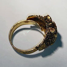 Load image into Gallery viewer, Vintage Costume Gold Owl Ring