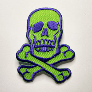 Classic Jolly Roger Pirate Skull Iron-On Patch